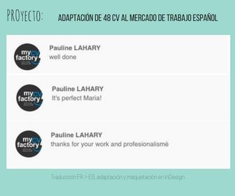 Feedback Comentarios proyecto adaptación CV mercado español